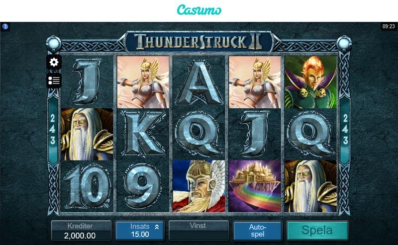 Thunderstruck II hos Casumo